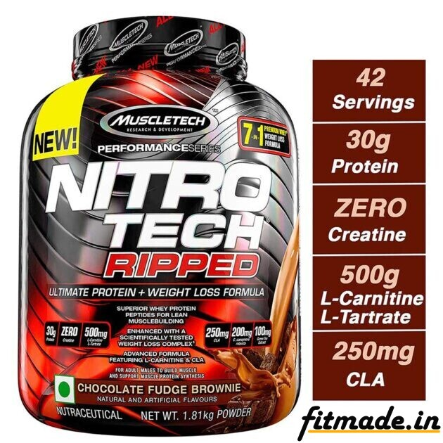 Muscletech performance series nitro Tech ripped ultimate protein + weight loss formula