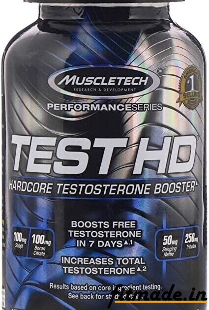 Muscletech performance series test HD heart ko testosterone booster 100 MG dietary supplement 90 capsule