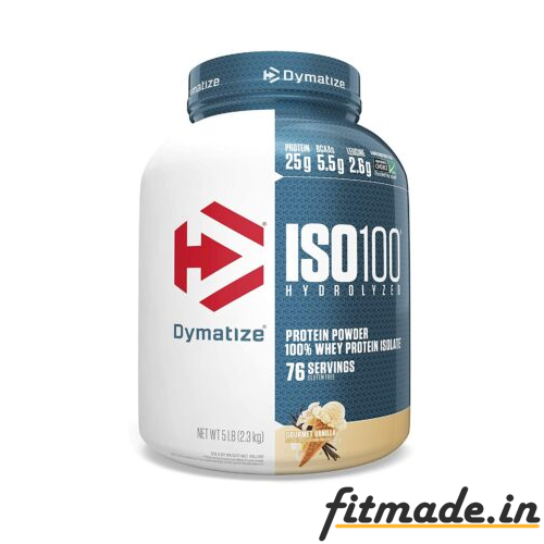 DYMATIZE iso100 Protein powder 100% whey protein isolate 76 serving flavour rich chocolate weight 2.3 kg