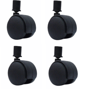 Fitmade Symphony Cooler Wheels 2″ Inch, Size 16mm, Set of 4, Black Colour