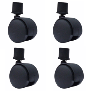 Fitmade Symphony Cooler Wheels 2″ Inch, Size 25mm, Set of 4, Black Colour